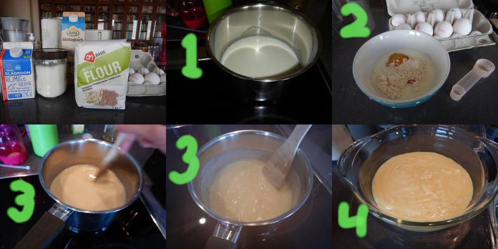 Tompouce recipe step 1 - 4